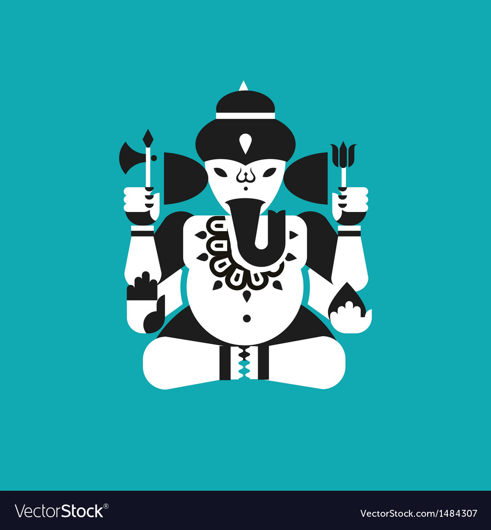 Indian elephant god ganesha vector | Price: 1 Credit (USD $1)