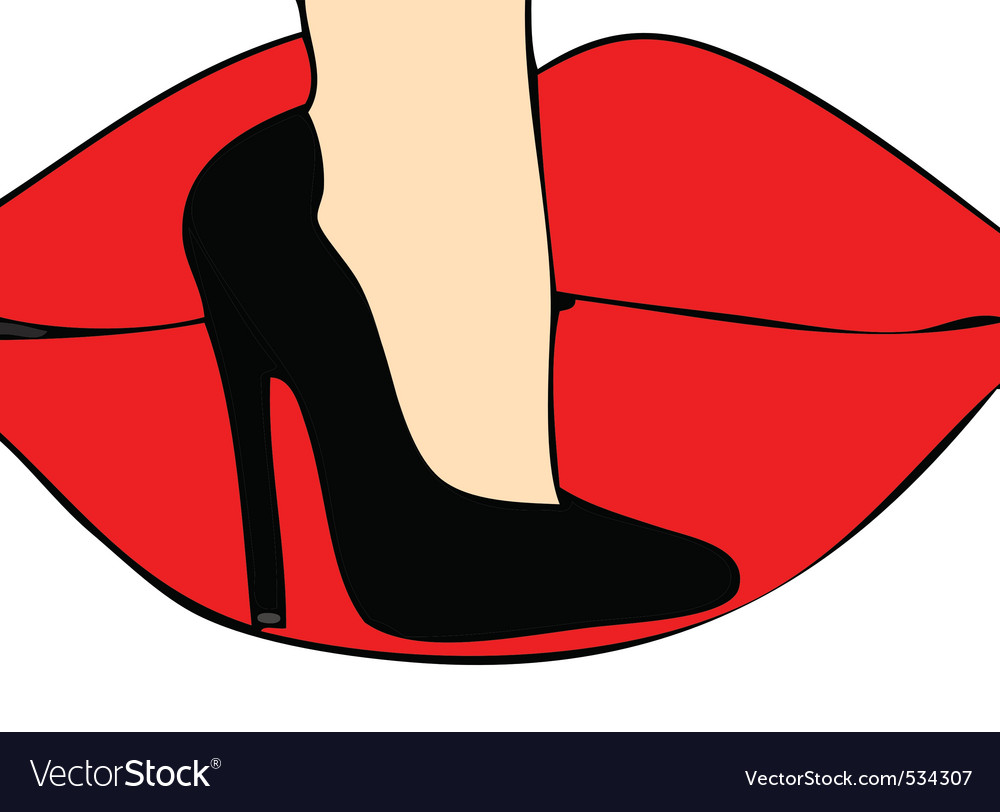 Love of the sensuality of a pair of high heeled sh vector | Price: 1 Credit (USD $1)