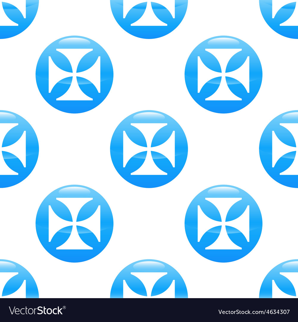 Maltese cross sign pattern vector | Price: 1 Credit (USD $1)