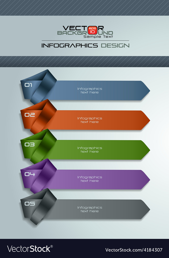 Modern infographic template with necktie vector   Price: 1 Credit (USD $1)