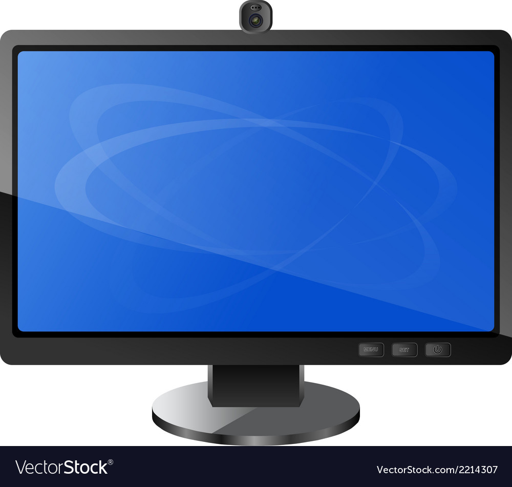 Modern monitor vector | Price: 1 Credit (USD $1)