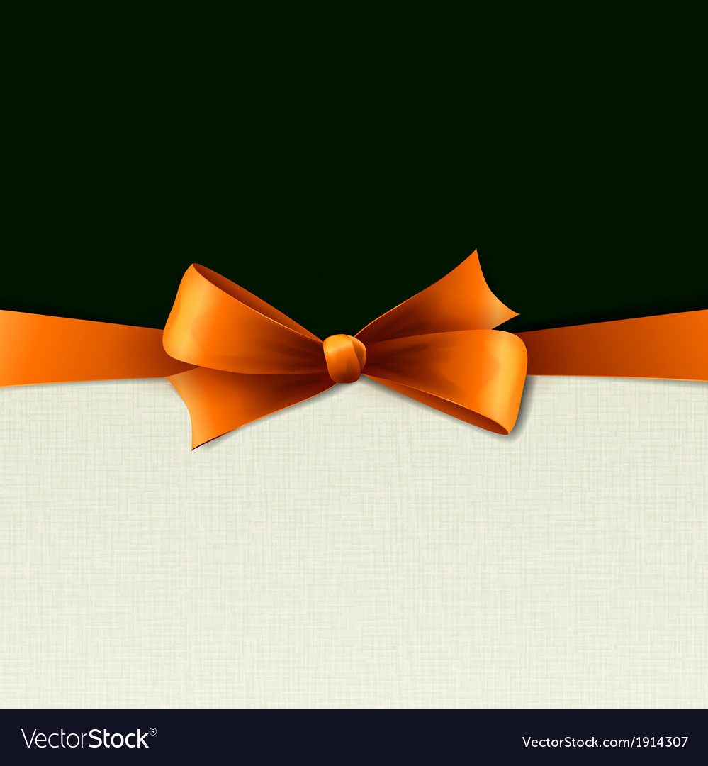 Orange gift bows with ribbons vector | Price: 1 Credit (USD $1)