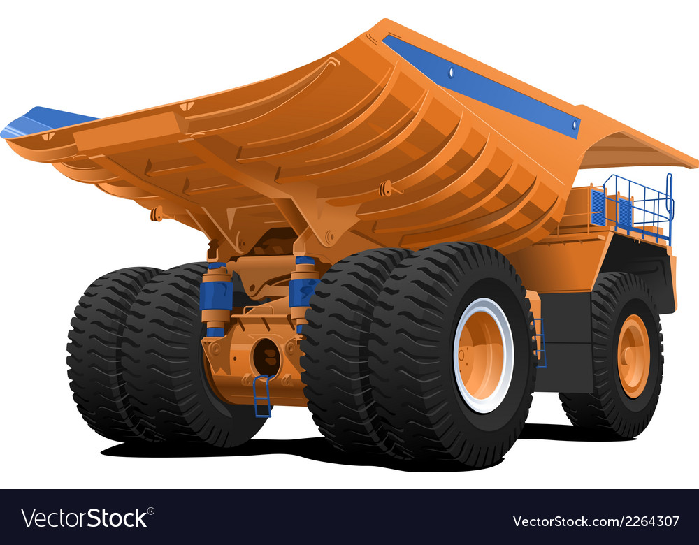 Tipper dumper dump truck vector | Price: 1 Credit (USD $1)