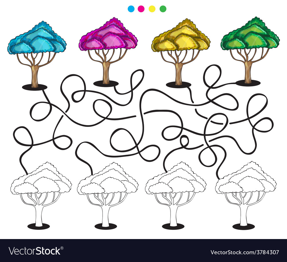 Visual puzzle and coloring page vector   Price: 1 Credit (USD $1)