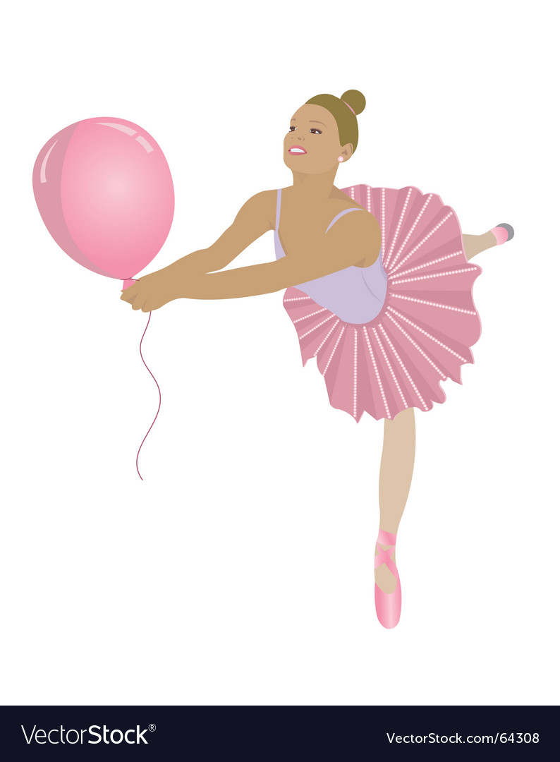 Ballerina pink vector | Price: 1 Credit (USD $1)