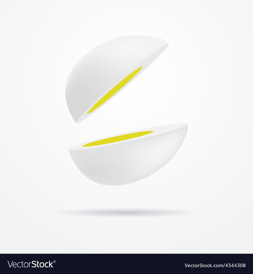 Cut egg vector | Price: 1 Credit (USD $1)