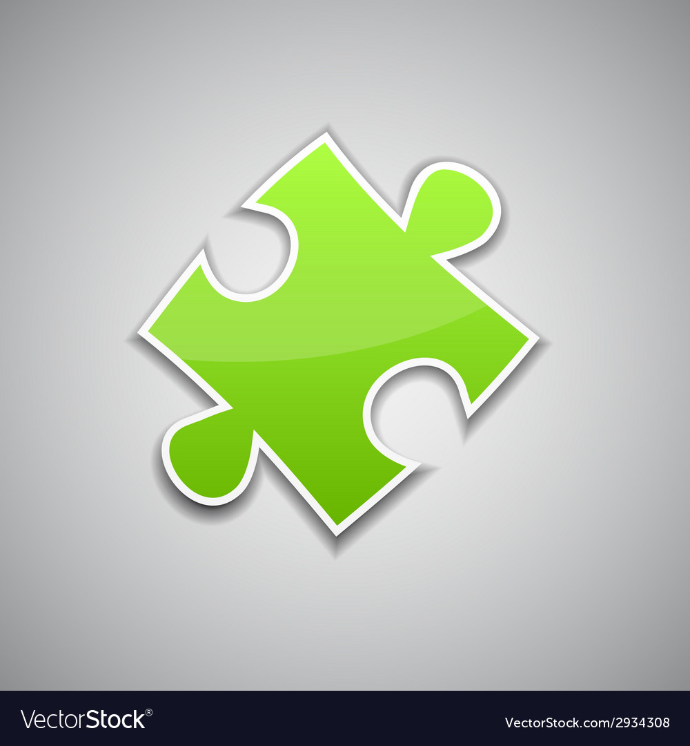 Green puzzle vector | Price: 1 Credit (USD $1)