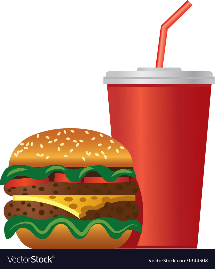 Hamburger and cola icon vector | Price: 3 Credit (USD $3)