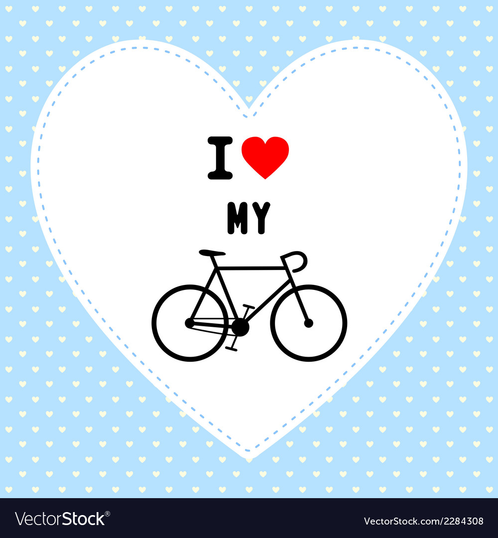 I love bicycle3 vector | Price: 1 Credit (USD $1)