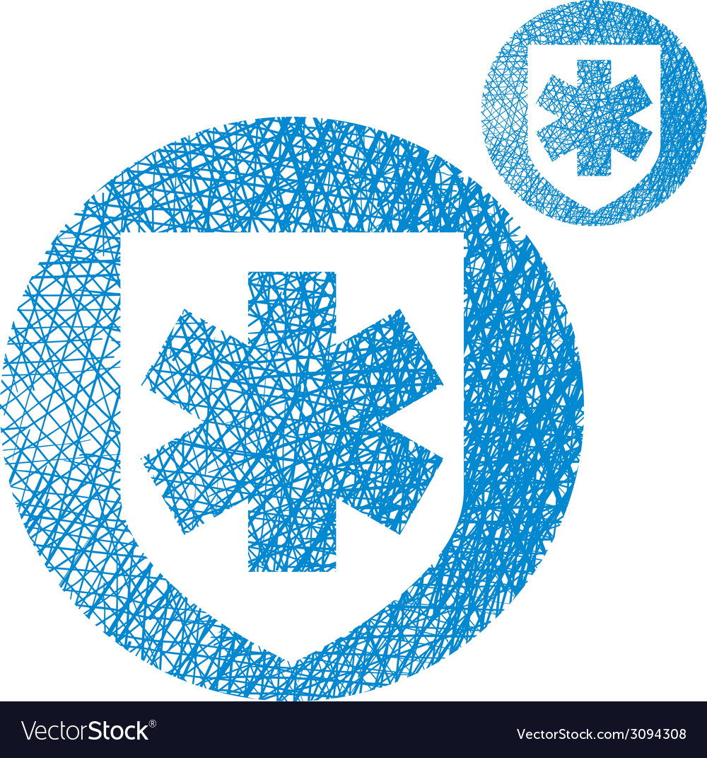 Medical insurance simple single color icon vector | Price: 1 Credit (USD $1)