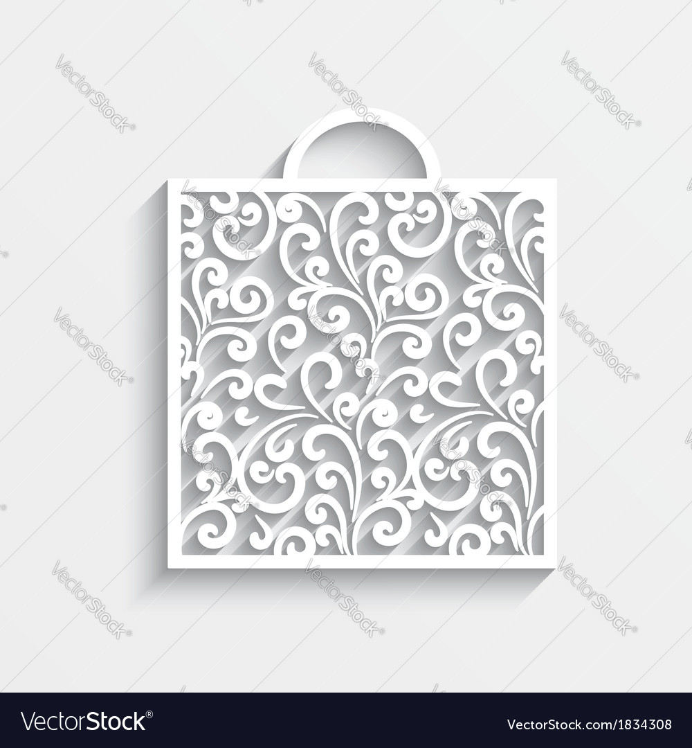 Ornamental paper bag vector | Price: 1 Credit (USD $1)