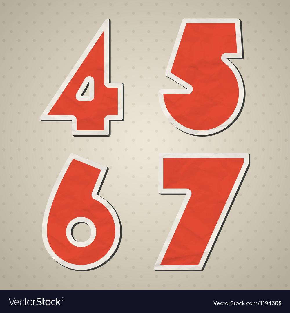 Paper figures vector | Price: 1 Credit (USD $1)
