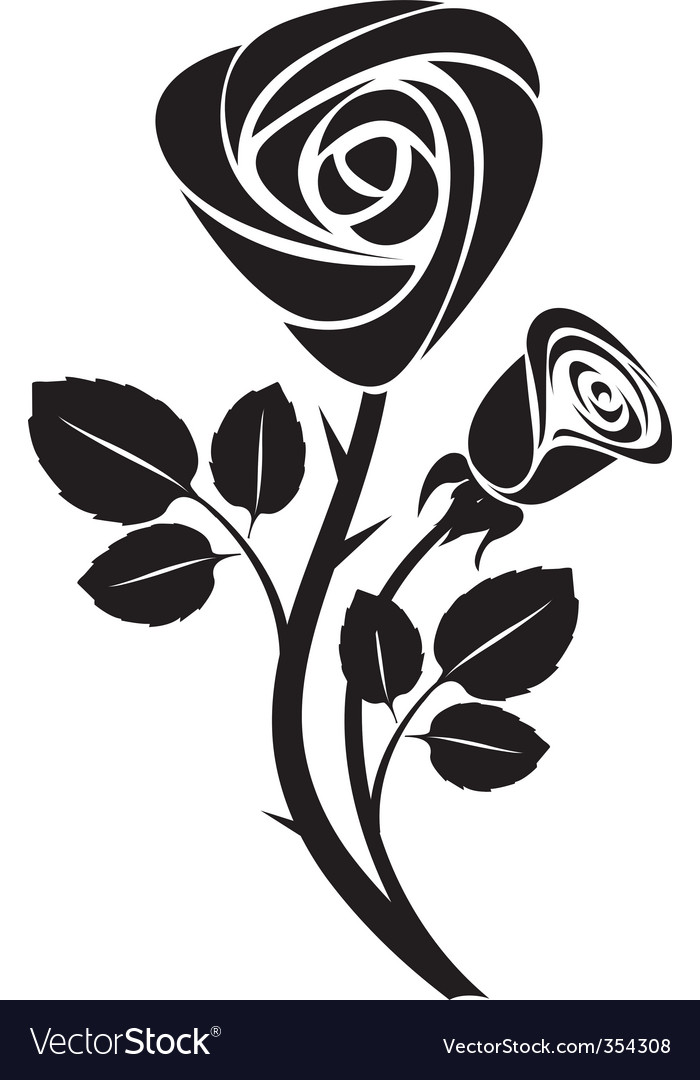 rose art illustration vector | Price: 1 Credit (USD $1)