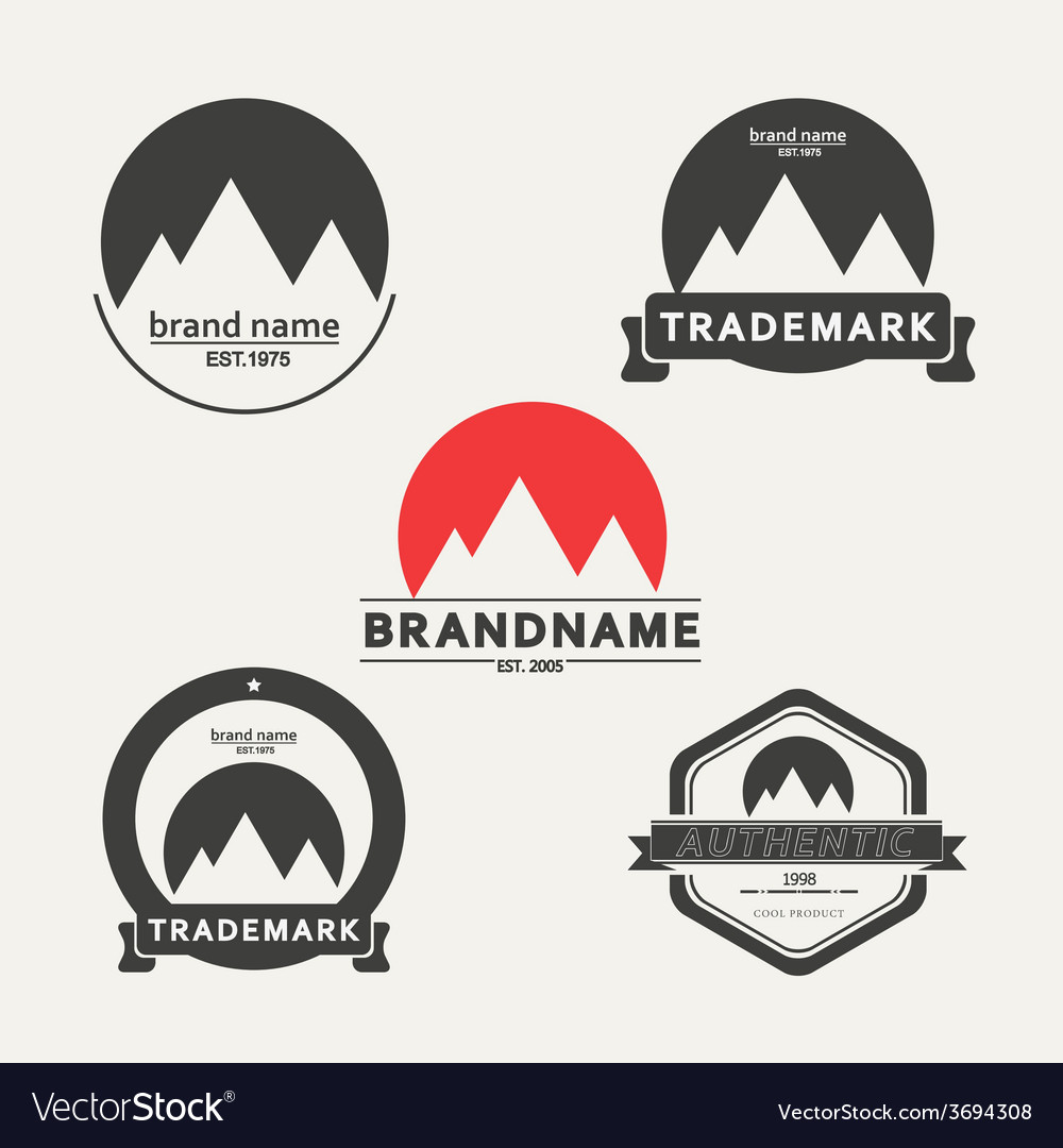 Set of emblems associated with mountains vector   Price: 1 Credit (USD $1)