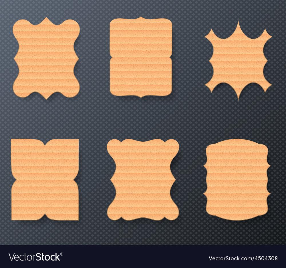 Vintage cardboard paper labels set vector | Price: 1 Credit (USD $1)