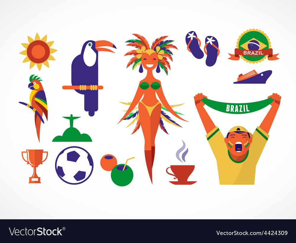 Brazil icons and vector | Price: 1 Credit (USD $1)