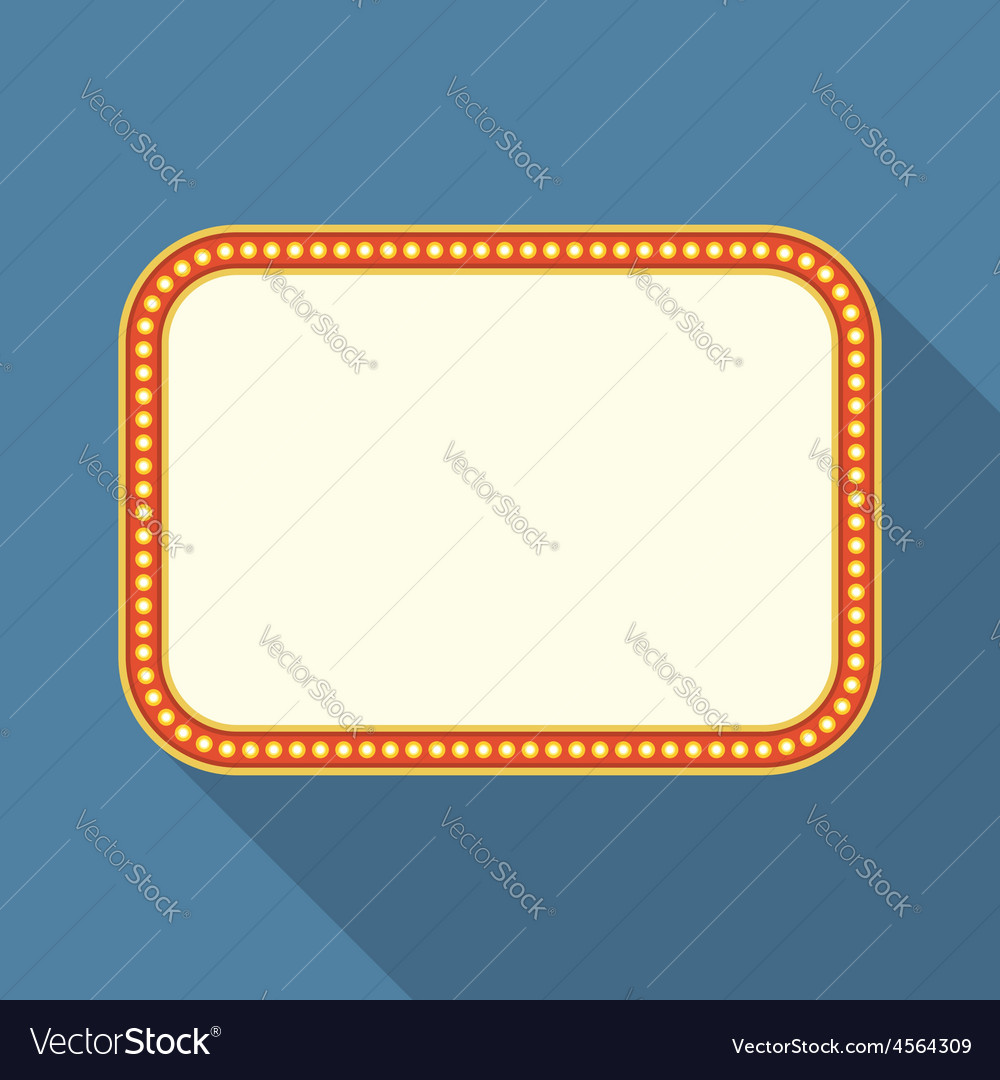 Flat retro banner vector | Price: 1 Credit (USD $1)