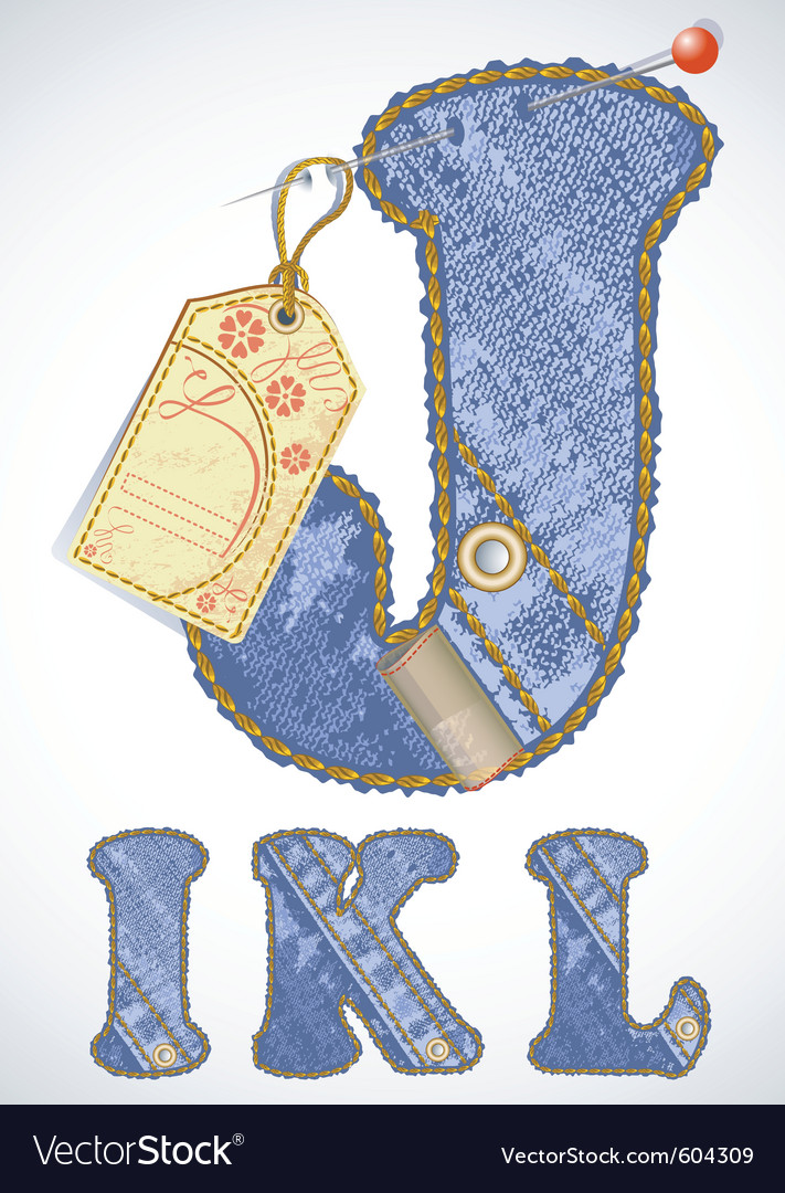 Jeans alphabet vector | Price: 1 Credit (USD $1)