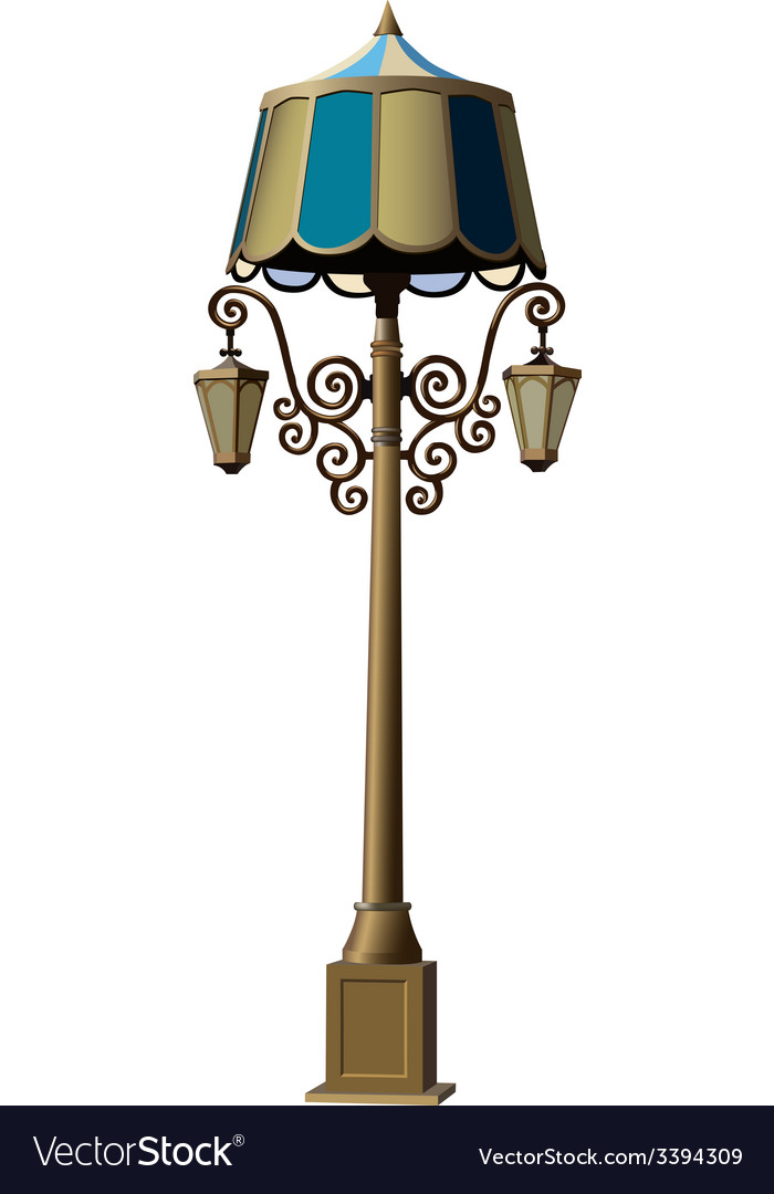 Realistic lamppost vector | Price: 3 Credit (USD $3)