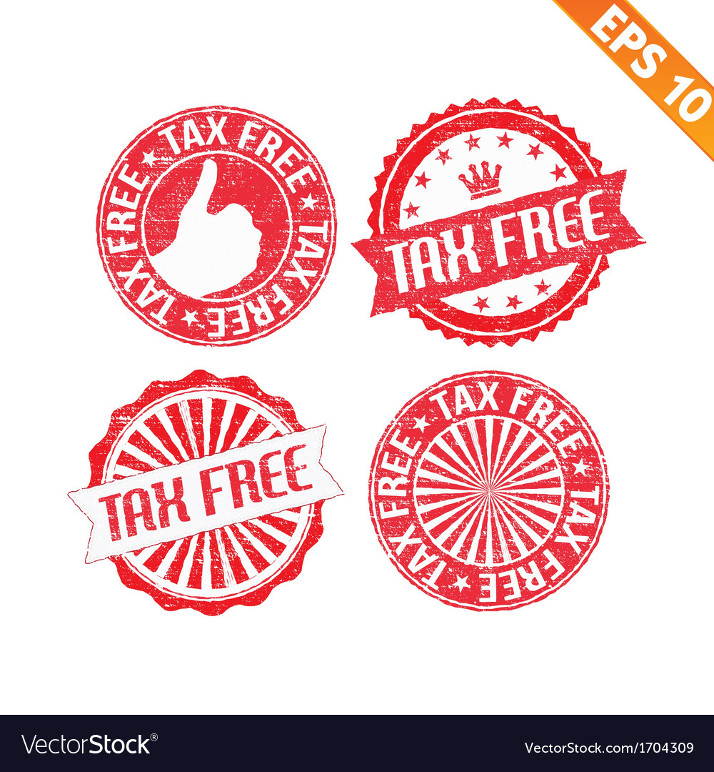 Stamp sticker tax free collection - - eps10 vector | Price: 1 Credit (USD $1)