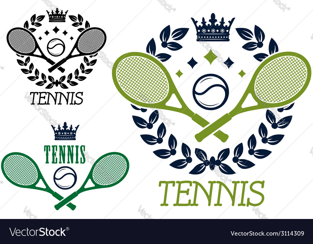 Tennis championship emblems or badges vector | Price: 1 Credit (USD $1)