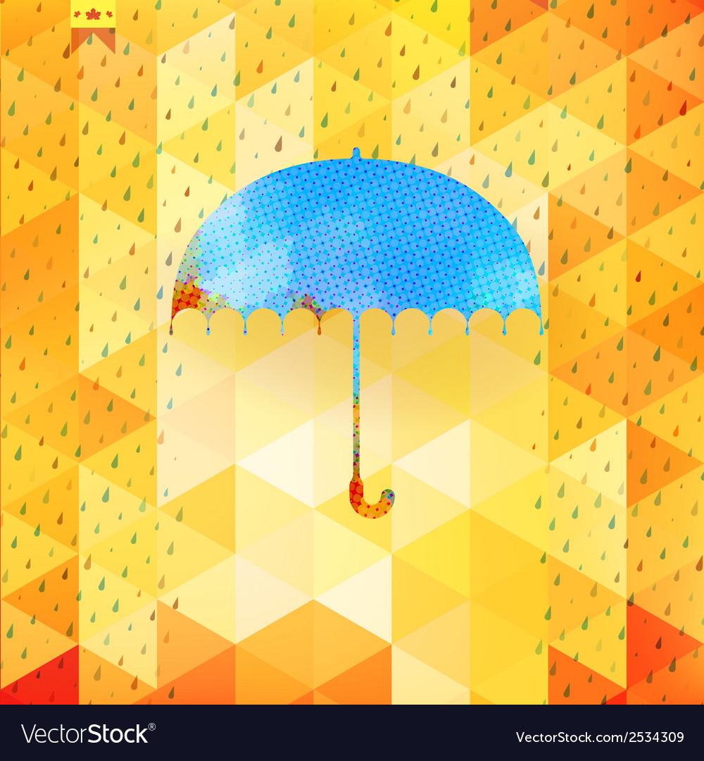 Umbrella and rain drops eps 10 vector   Price: 1 Credit (USD $1)