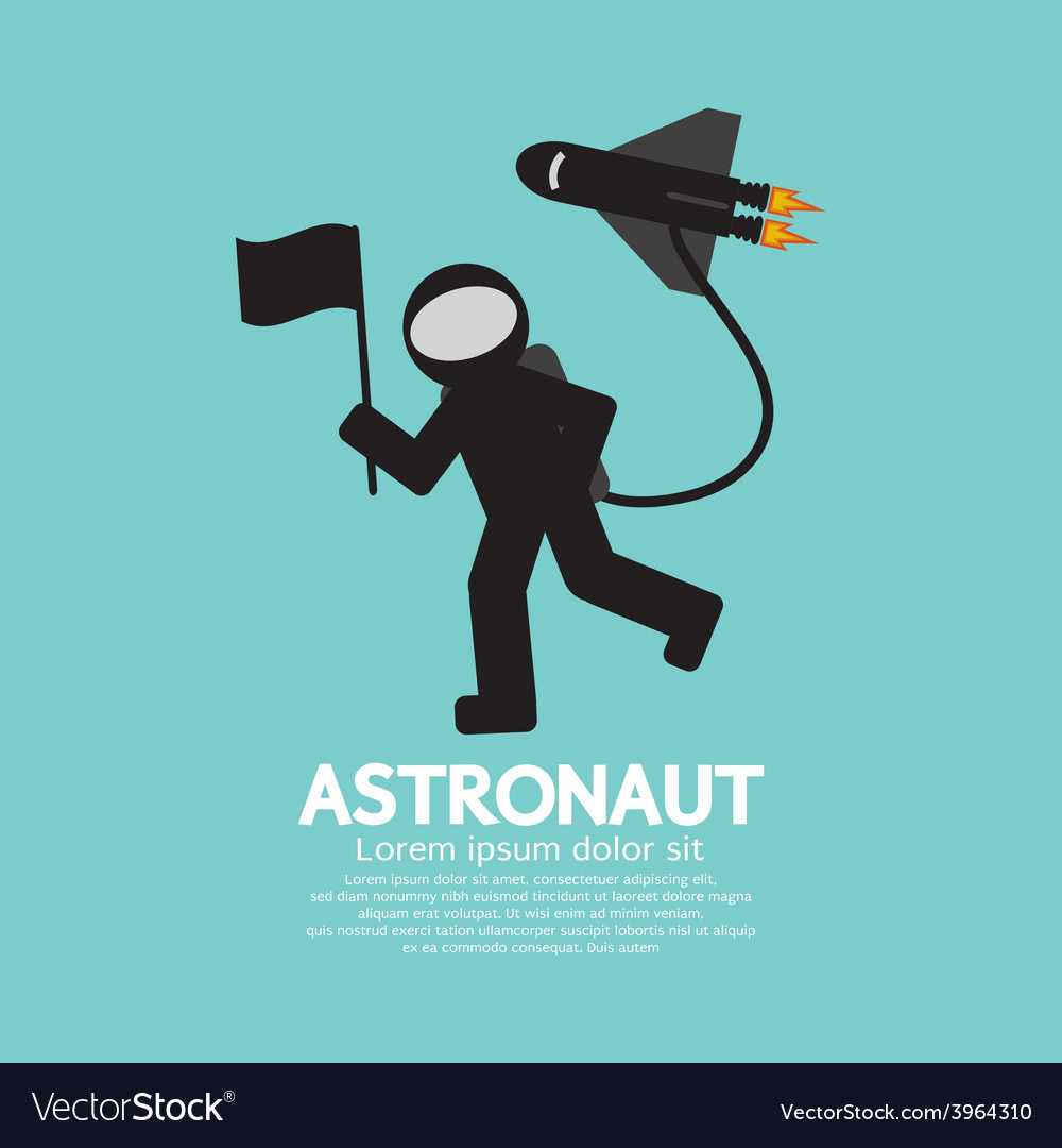 Astronaut with spaceship graphic vector | Price: 1 Credit (USD $1)