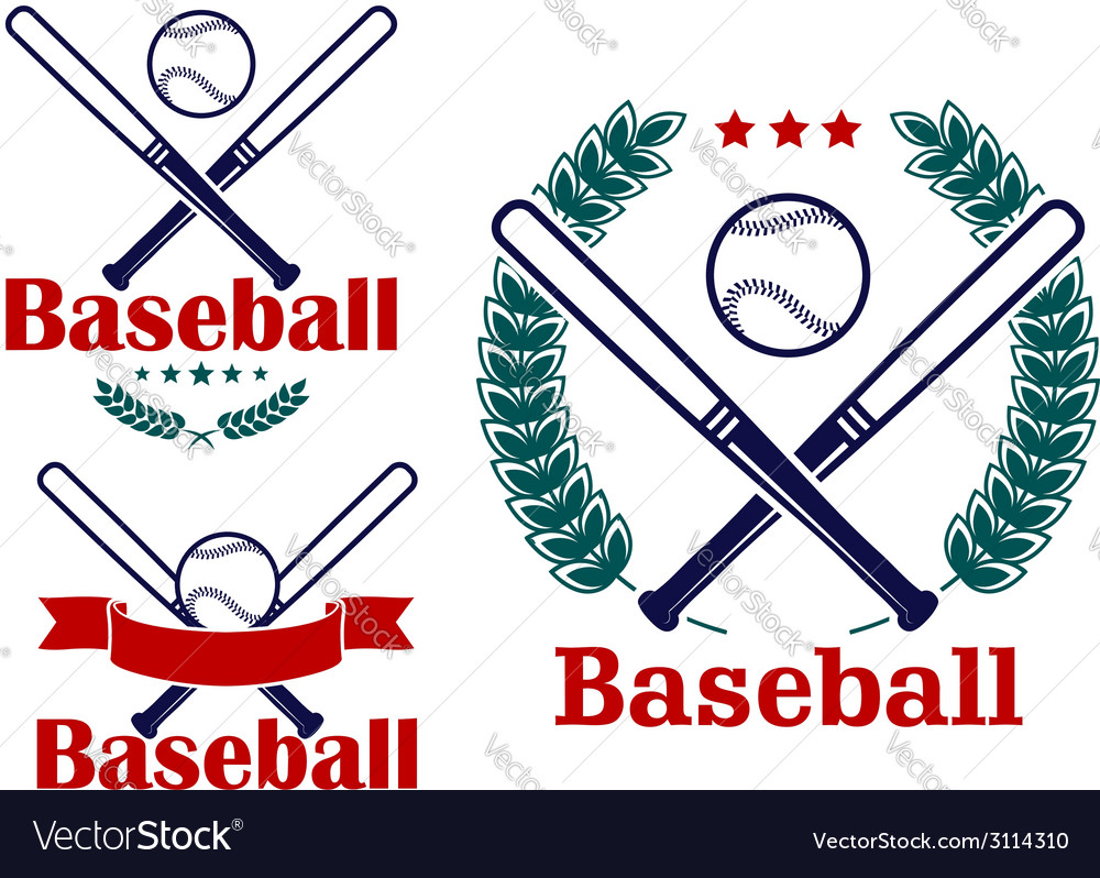 Baseball emblems or badges designs vector | Price: 1 Credit (USD $1)