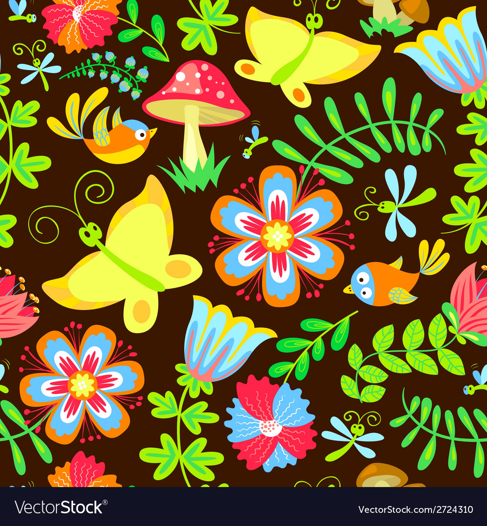Birds and butterfly vector | Price: 1 Credit (USD $1)