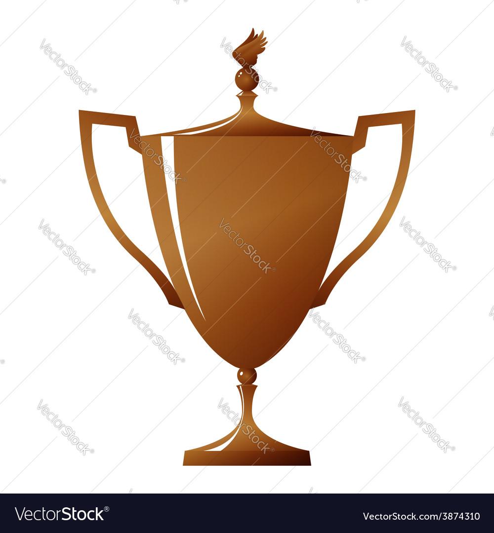 Cup of winner bronzed trophy cup vector | Price: 1 Credit (USD $1)