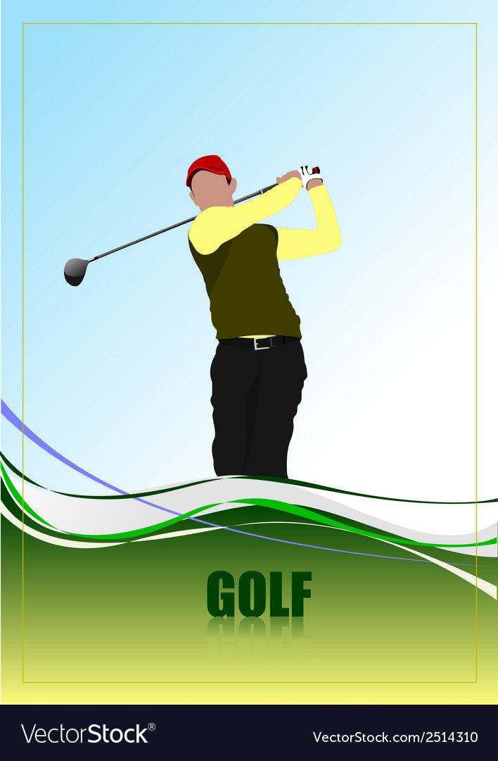 Golf a0104 vector | Price: 1 Credit (USD $1)