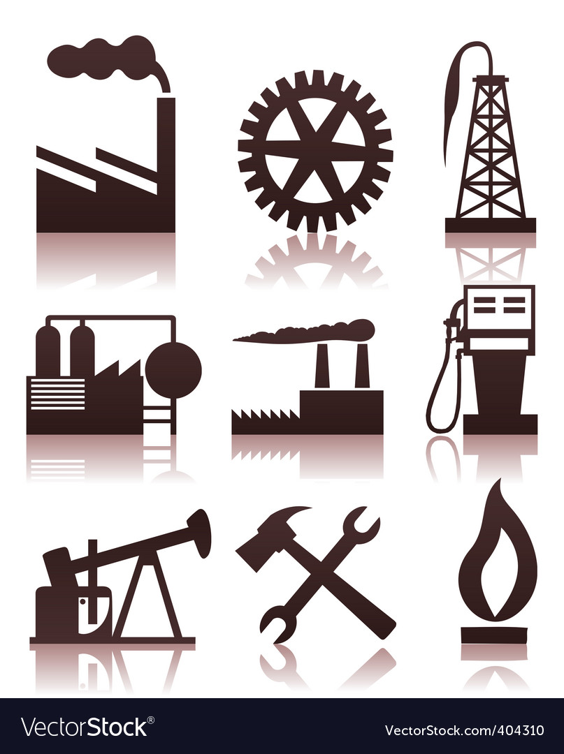 Industrial icons vector | Price: 1 Credit (USD $1)