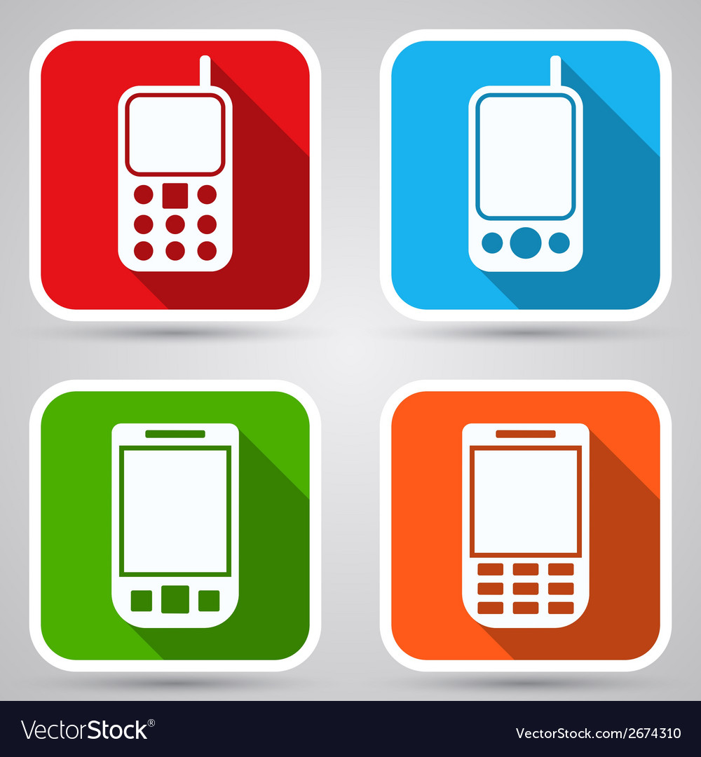 Mobile phones icons vector | Price: 1 Credit (USD $1)