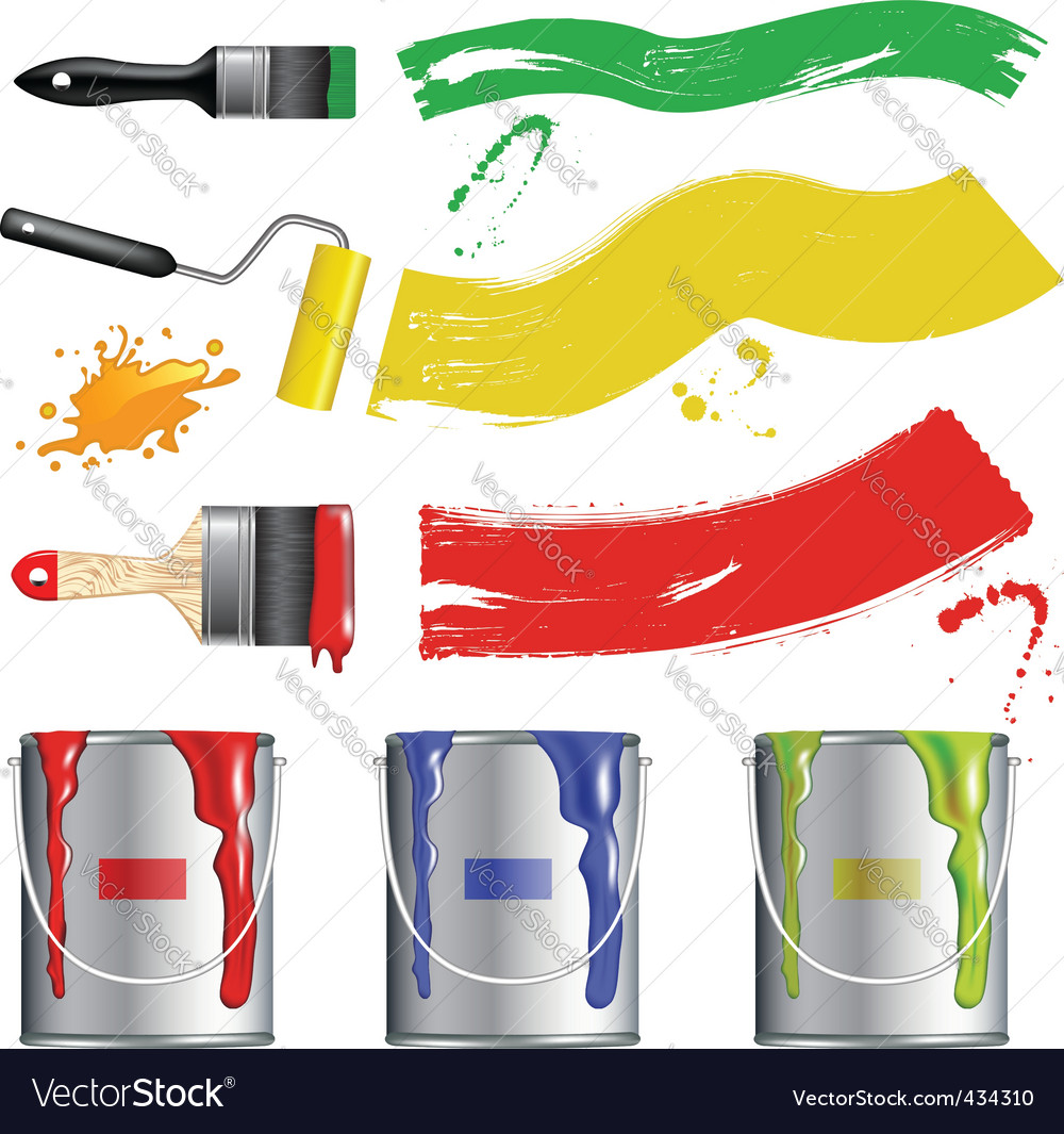 Paint tool collection vector | Price: 1 Credit (USD $1)