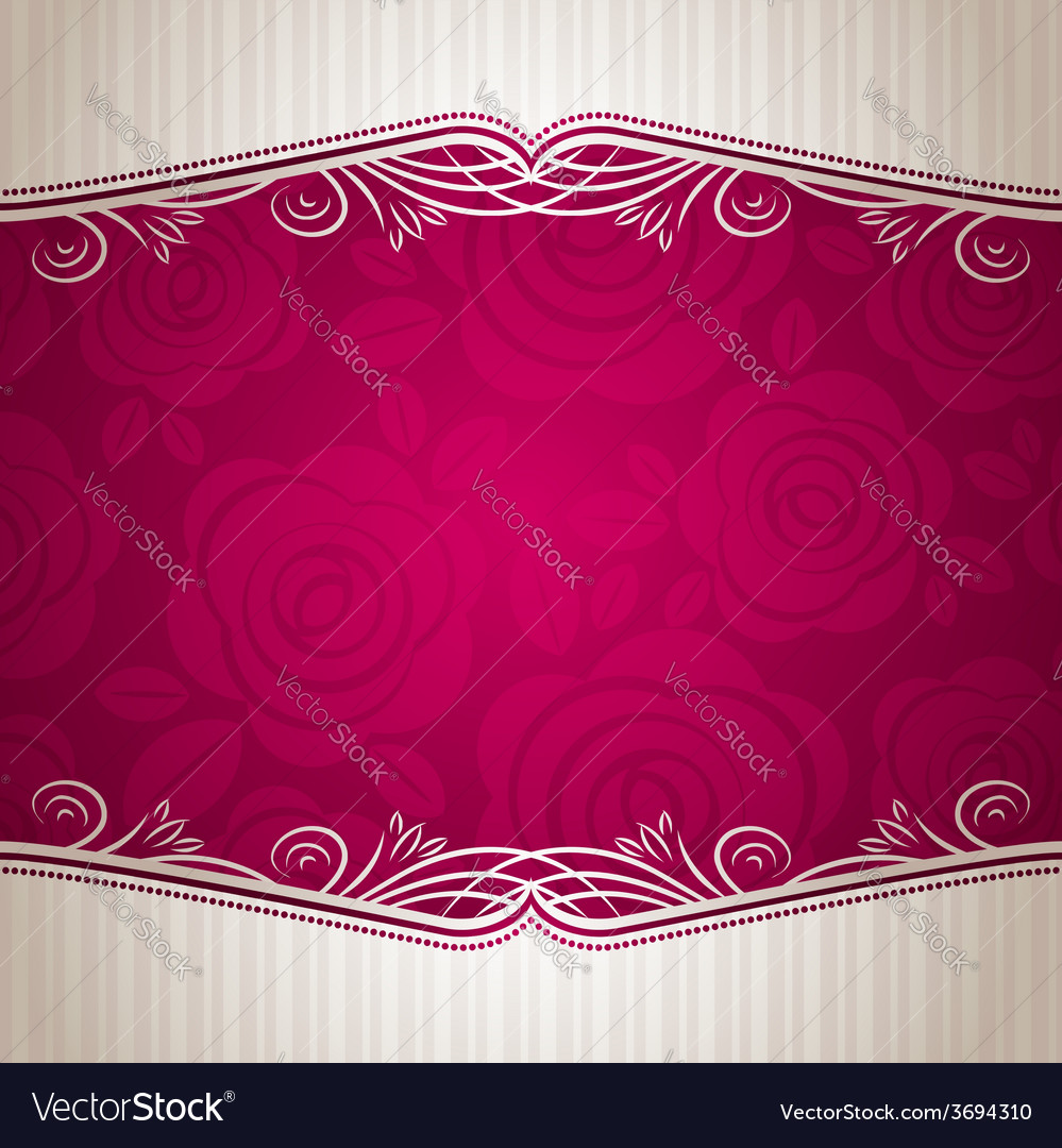 Pink valentine background with many roses vector | Price: 1 Credit (USD $1)