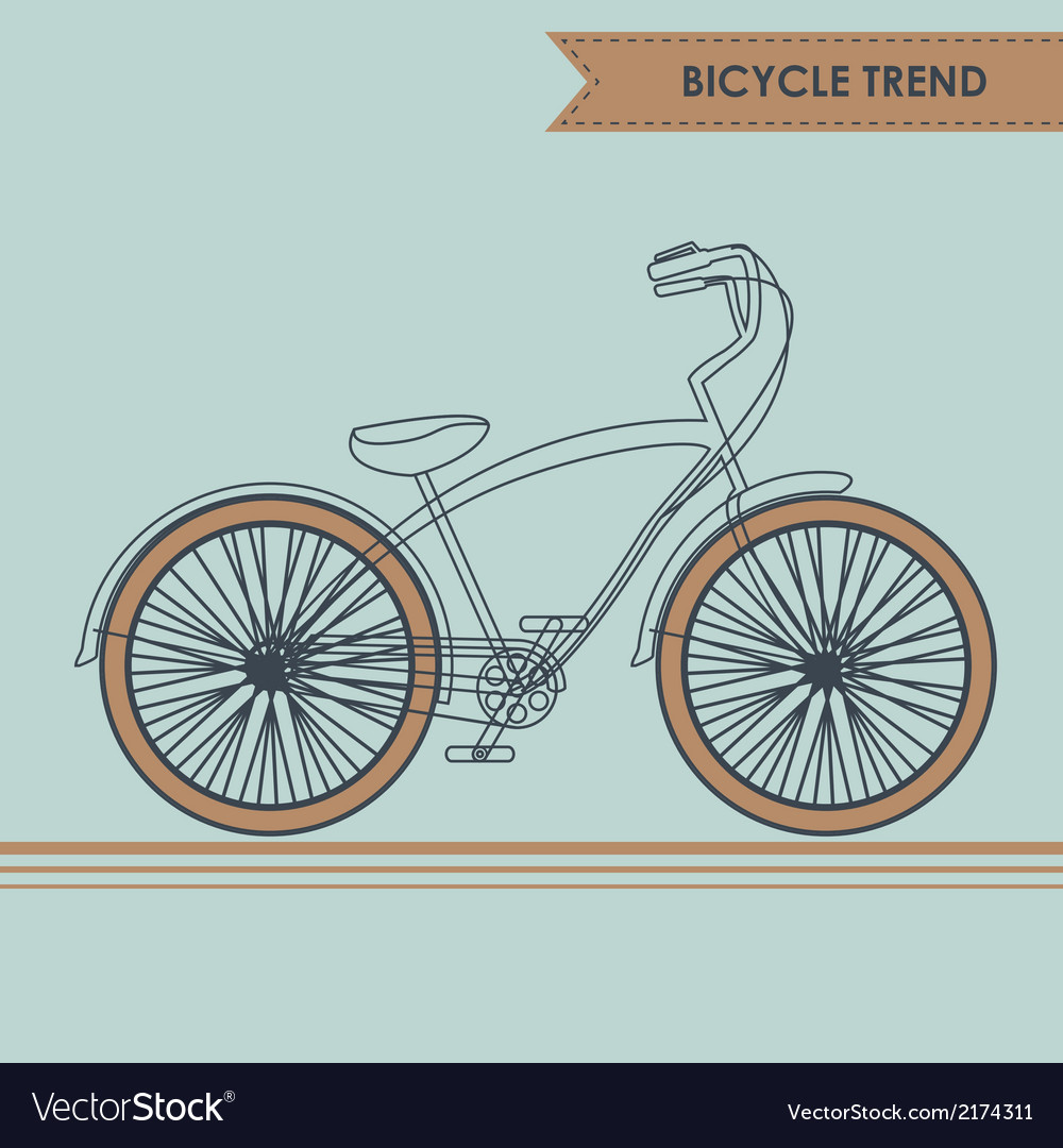 Bicycle sketch on blue vector | Price: 1 Credit (USD $1)
