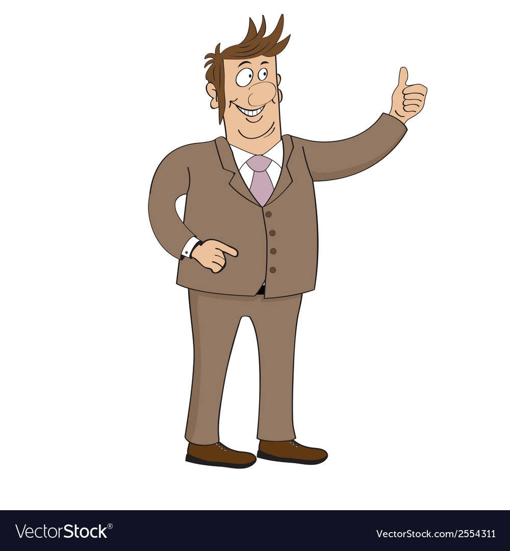 Business man character isolated on white vector | Price: 1 Credit (USD $1)