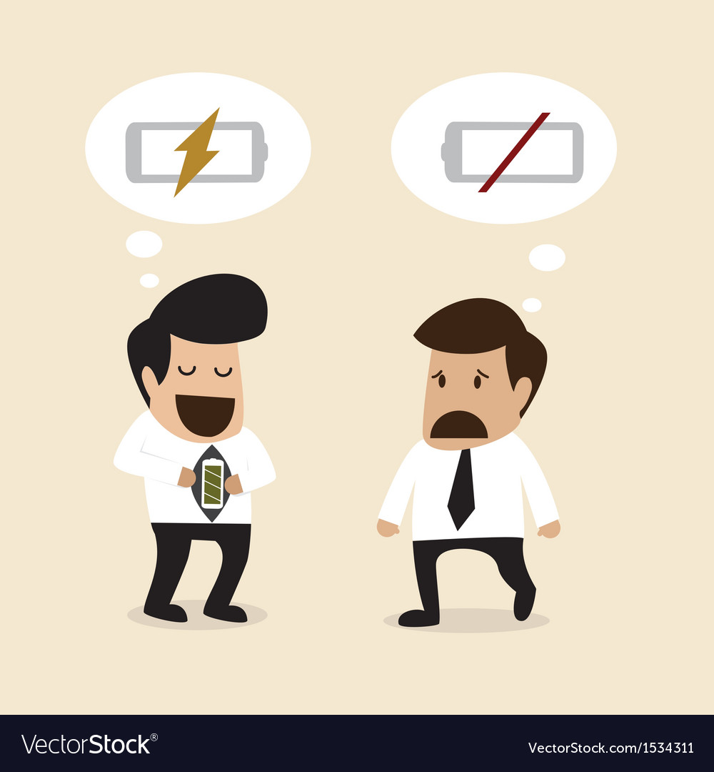 Businessman suggest another man to take a rest vector | Price: 3 Credit (USD $3)