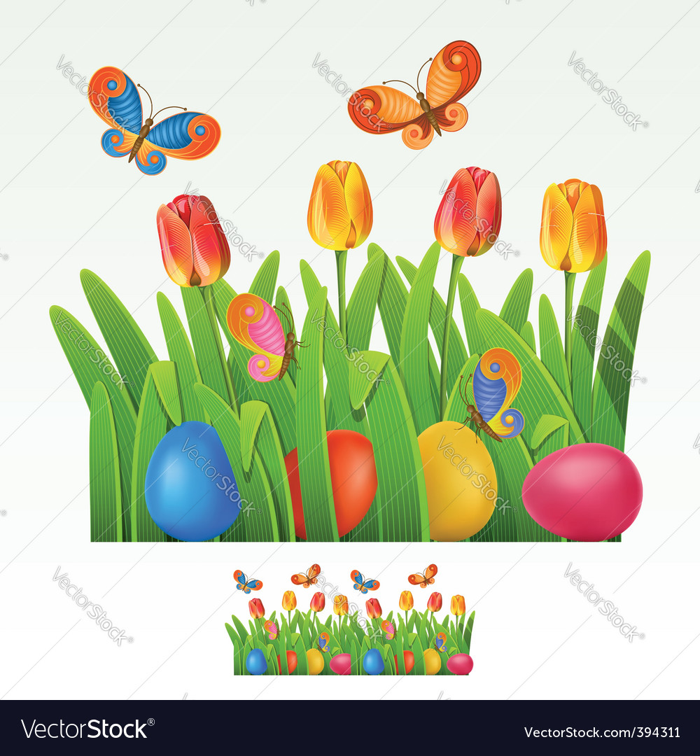 Easter border vector | Price: 3 Credit (USD $3)
