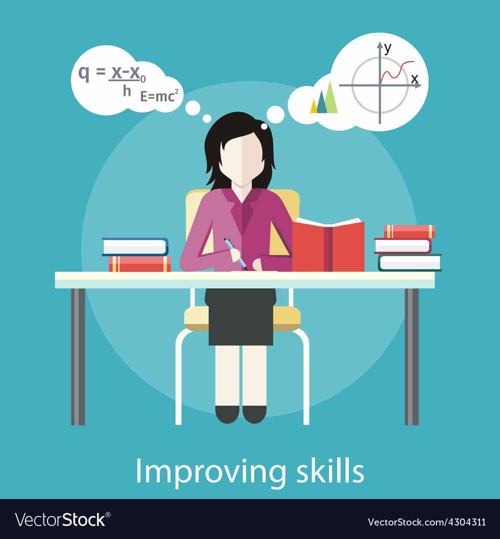Improving skills vector | Price: 1 Credit (USD $1)