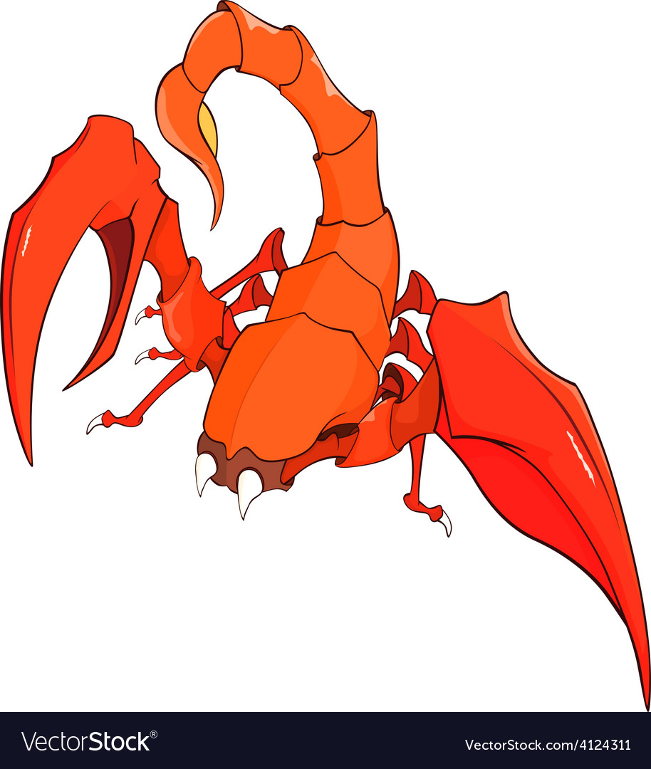 Nice red scorpion cartoon vector | Price: 1 Credit (USD $1)