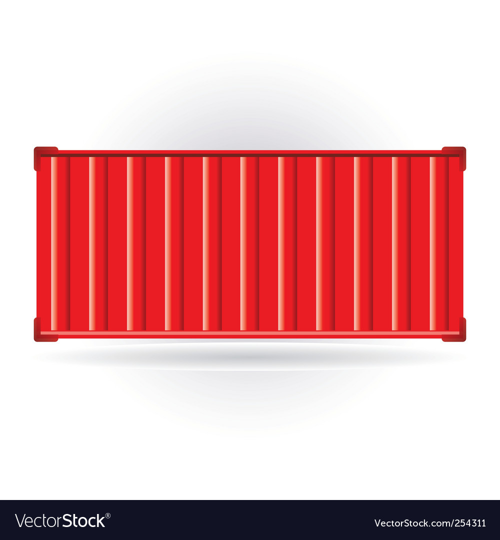 Red container vector | Price: 1 Credit (USD $1)