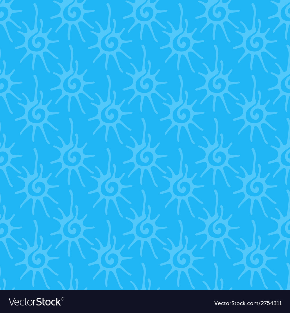 Seamless pattern with sun ornament vector | Price: 1 Credit (USD $1)