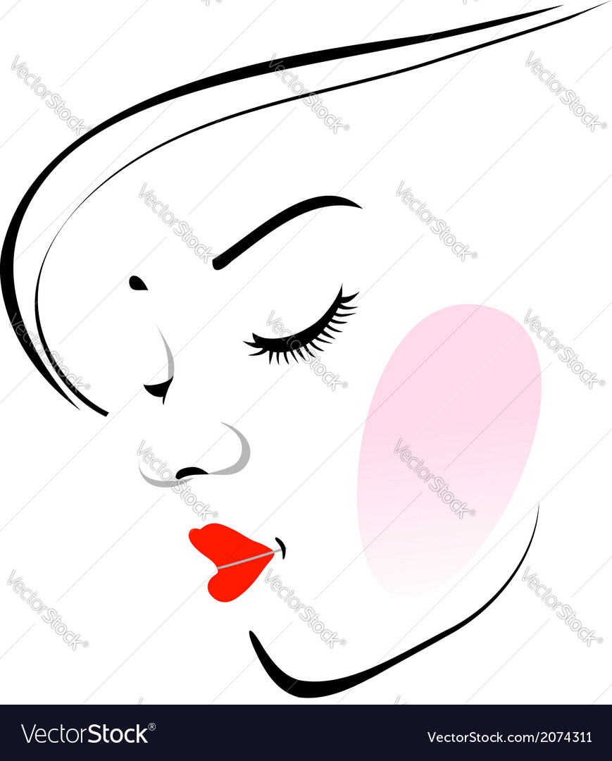 Stylish woman wearing a red lipstick vector | Price: 1 Credit (USD $1)