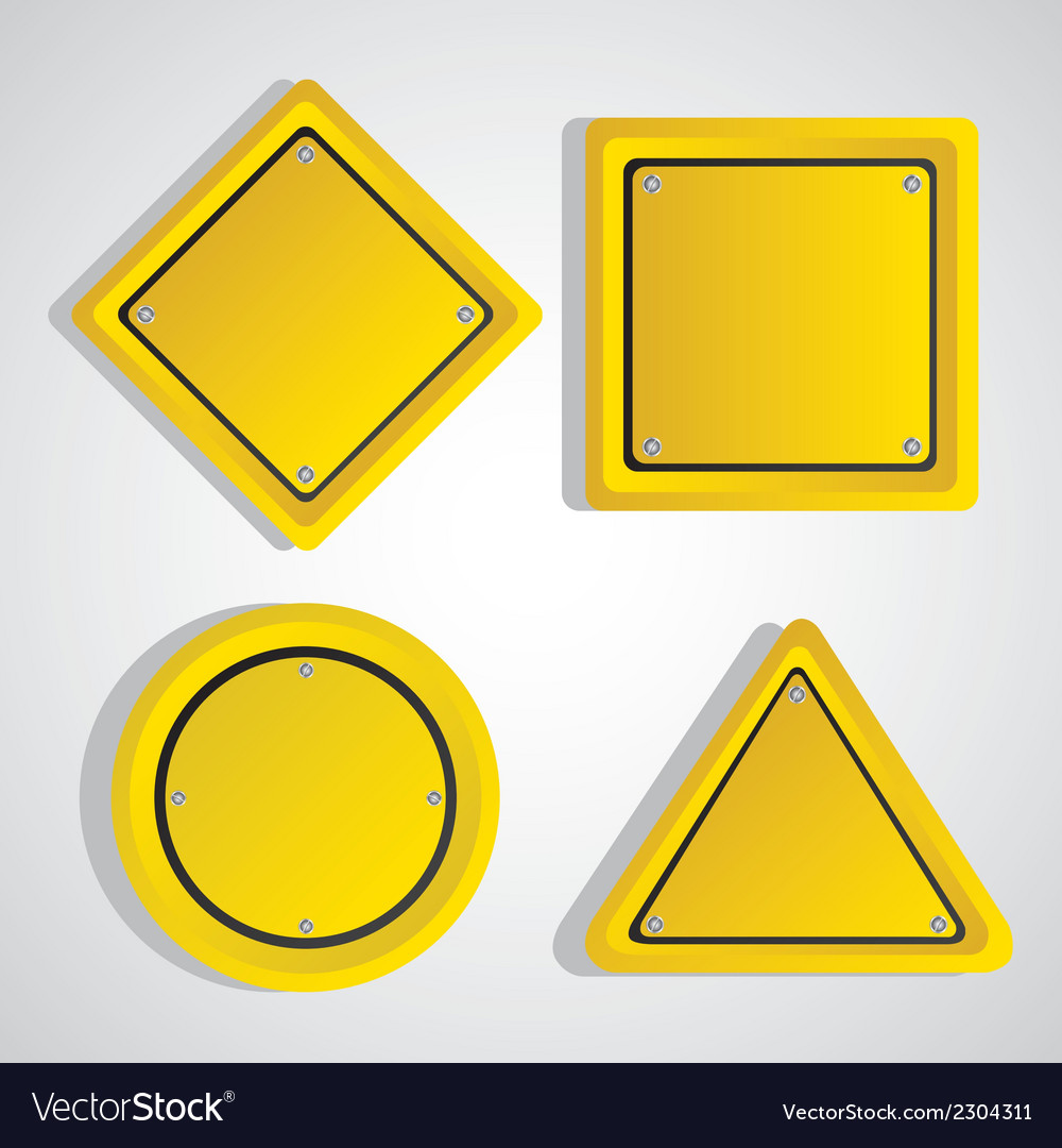 Yellow sign over gray background vector | Price: 1 Credit (USD $1)