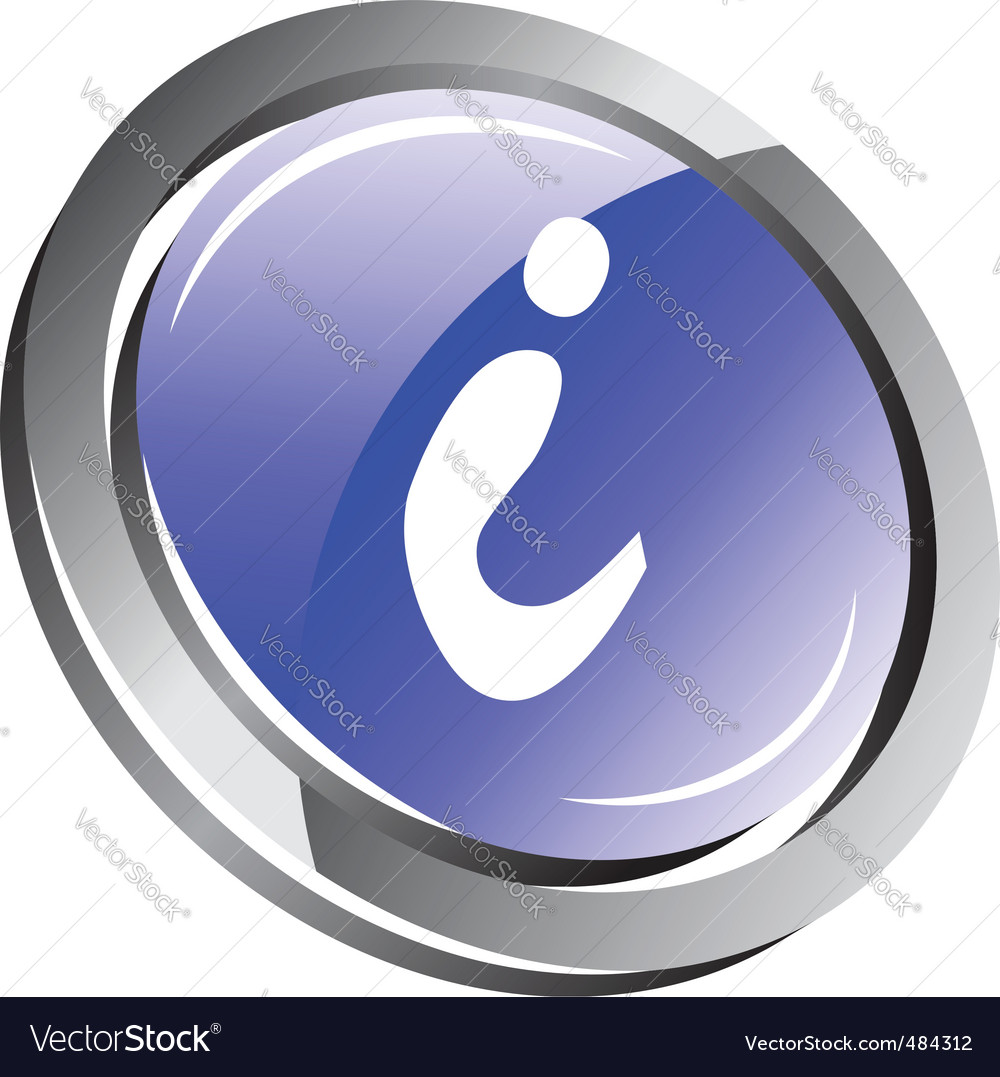 3d information button vector | Price: 1 Credit (USD $1)