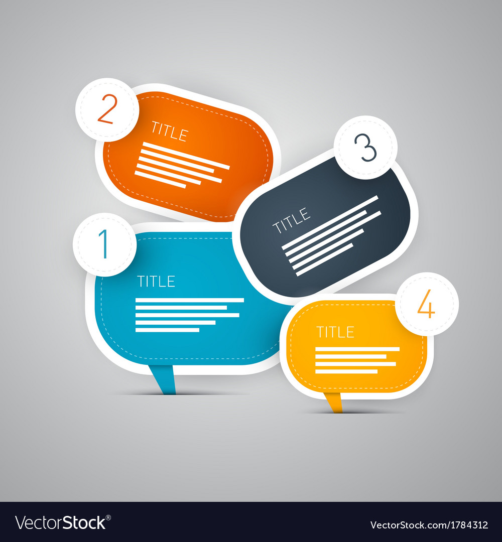 4 step infographic vector   Price: 1 Credit (USD $1)