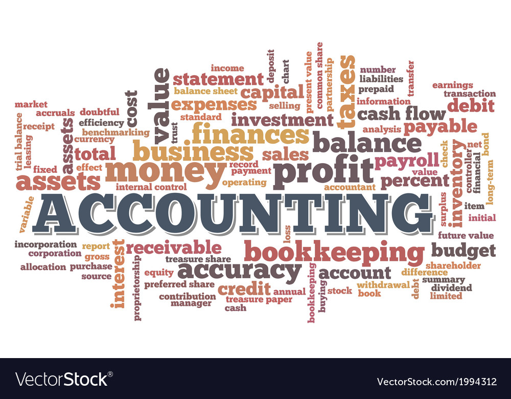 Accounting word cloud word bubble tags vector | Price: 1 Credit (USD $1)