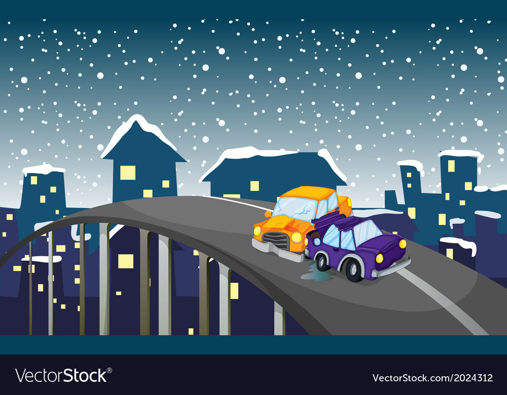 An accident at the road vector | Price: 3 Credit (USD $3)