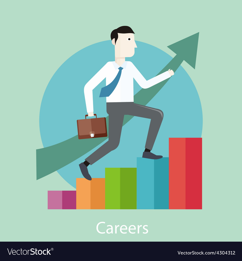 Career concept in flat design style vector   Price: 1 Credit (USD $1)